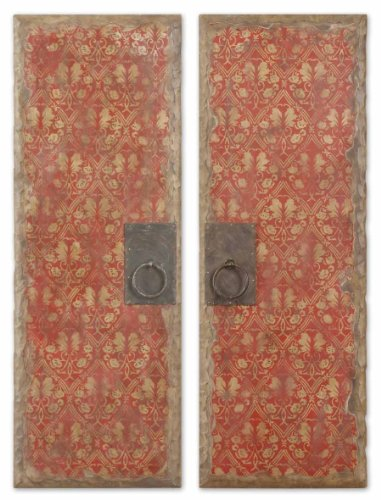 Red Door Panels, Set of 2 by Uttermost by Uttermost