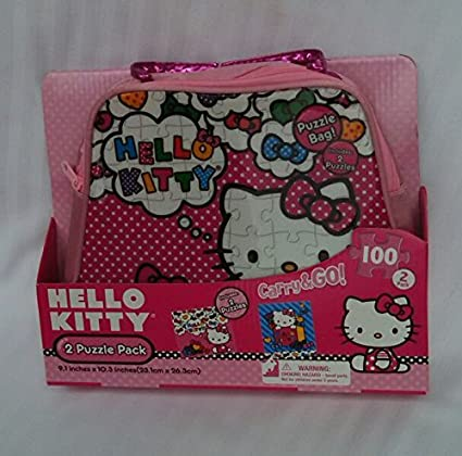 Hello-Kitty-2-Puzzle-Carry&Go-Pack