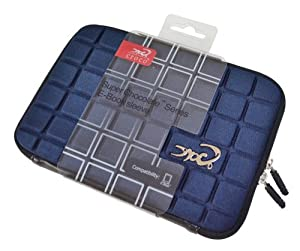 Croco CAS1564 Super Chocolate Carry Case Cover/Sleeve for 7 inch iPad Mini/Tablets - Navy Blue