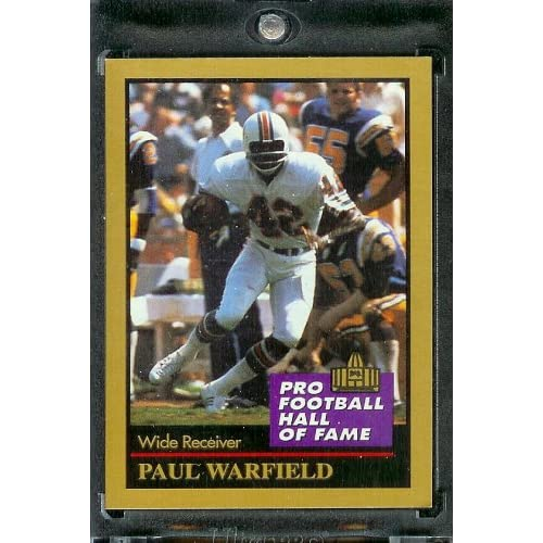 1991 ENOR Paul Warfield Football Hall of Fame Card #148   Mint Condition   Shipped in Protectivee Acrylic Display Case