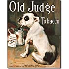 Old Judge Tobacco Bull Dog Retro Vintage Tin Sign