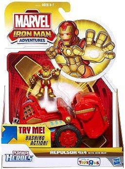 Marvel Playskool Heroes Iron Man Adventures Exclusive Playset Repulsor 4x4 [with Iron Man Figure] by Hasbro (English Manual)