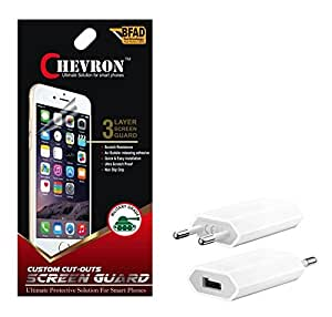 Chevron Ultra Clear HD Screen Guard Protector For hTC Desire 826 With USB Mobile Wall Charger