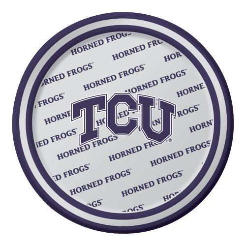 Creative Converting 8 Count Texas Christian Horned Frogs Paper Dessert Plates