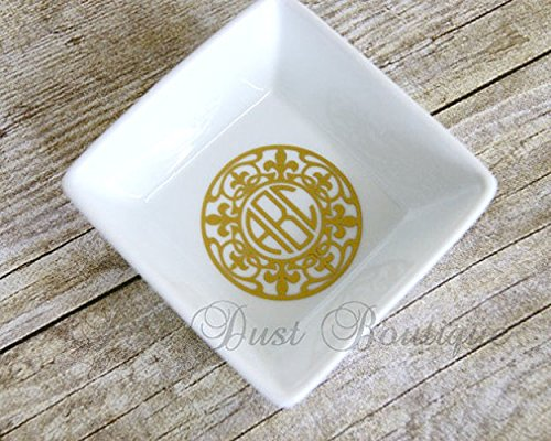 Jewelry Dish- Personalized Initial Dish- Great Wedding Gift, Monogram
