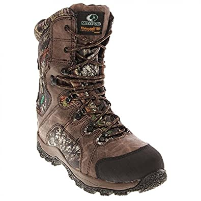Mossy Oak MO2828 Men's 8-in TrailBranch WP Boot Brown/Camo 15 M US