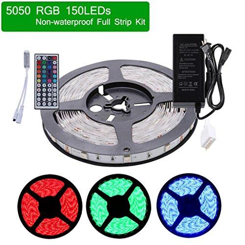 Color Changing Tape Light: LEDMO SMD 5050 DC12V RGB LED Strip Lighting Ribbon Kit 16