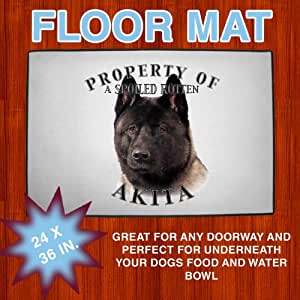 "Akita ""Black"" Property Of Floor Mat 24 in X 36 in"