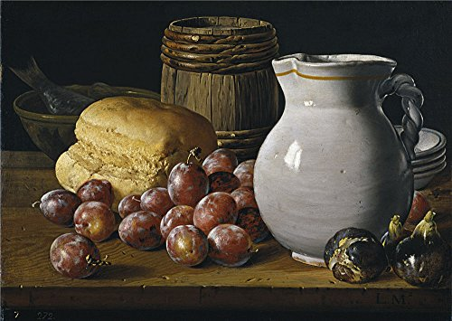 'Melendez Luis Egidio Bodegon Ciruelas Brevas Pan Third Quarter Of 18 Century ' Oil Painting, 12 X 17 Inch / 30 X 43 Cm ,printed On Polyster Canvas ,this Amazing Art Decorative Canvas Prints Is Perfectly Suitalbe For Kitchen Gallery Art And Home Artwork And Gifts (3rd Stage Baby Food compare prices)