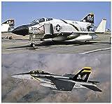 1/72 飛行機シリーズ アメリカ海軍 F-4J ファントム2& F/A-18F スーパーホーネット ジョリー ロジャース プラモデル SP347
