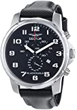 Sector Men's Watch R3271689025 In Collection Black Eagle, 46mm Chrono with Black Dial and Black Strap