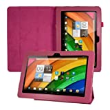 Elegant leather case for Acer Iconia A3 in Hot Pink with convenient STAND FEATURE from kwmobile