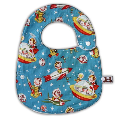 The Pat a Cake Baby Retro Rockets Bib