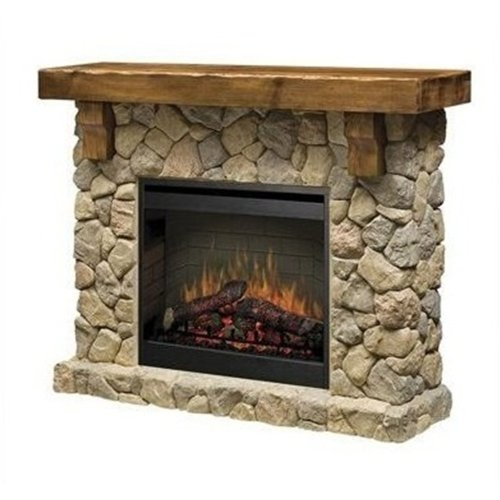 Best Buy Dimplex Fieldstone Rustic Electric Fireplace