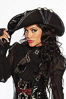 Hut Piraten-Hut schwarz