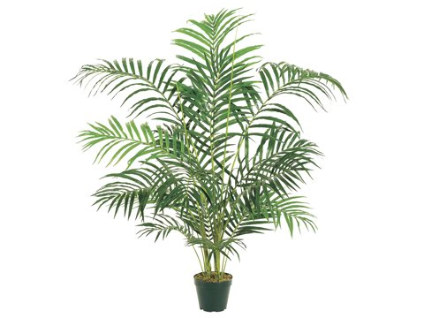 Pack of 2 Potted Artificial Silk Areca Palms 4′