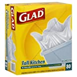 Glad Tall Kitchen Bags, Quick-Tie, 13 Gal, 80 bags