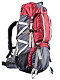 Ultrasport Outdoor Backpack Incl. Rain Cover  - Red, 65+10 Litre