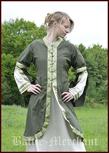 Meraviglioso Cappotto da donna cappotto Abito Robe abito LARP medievale colori assortiti, verde