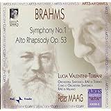 Brahms: Symphony No. 1 / Alto Rhapsody Op. 53