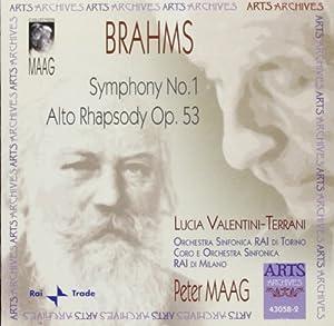 Brahms: Symphony No. 1 / Alto Rhapsody, Op. 53