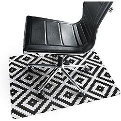 casa pura® Bodenschutzmatte Printed Diamond | trendiges Ethnic Pixel Design | ca. 91x73 cm | für Teppich und Hartboden | Unterseite mit Antirutsch Beschichtung