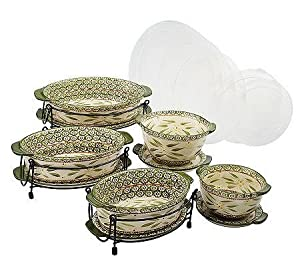 Amazon.com: Temp-tations Old World 13-pc. Lid-it Oven-to-Table Set: Bake And Serve Sets: Kitchen ...