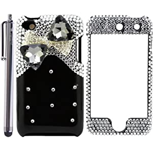 Bow Tie / Ribbon 3D Diamond Protector Case for Apple iPod Touch 4 / 4G / 4th Generation - 4.5