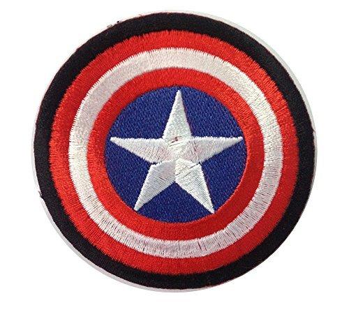 Captain America Shield Superhero American Comics Logo Sign Applique Embroidered Iron on Patch (Captain America Logo Iron On compare prices)