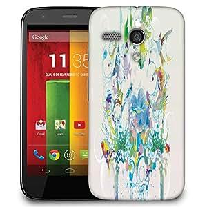 Snoogg Abstract Bird Art Designer Protective Phone Back Case Cover For Motorola G / Moto G