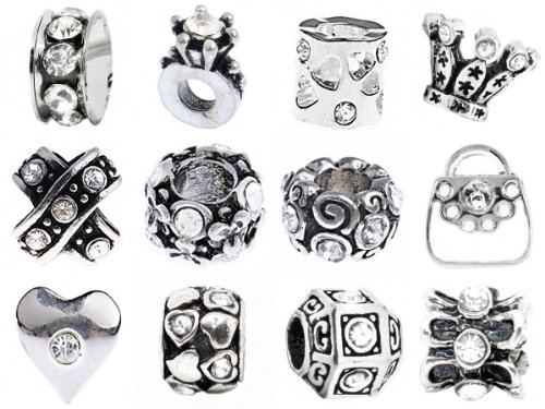Timeline Treasures 12 European Style Charm Bracelet Beads Fits Pandora April Diamond Crystal Picture