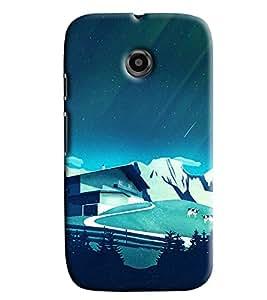 Blue Throat Blue Mountaing Printed Designer Back Cover/ Case For Motorola Moto E2