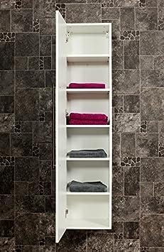 armoire haute 150 150 cm blanc tr s brillant cuisine maison maison m192. Black Bedroom Furniture Sets. Home Design Ideas