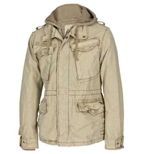 JET LAG Mens Winter Jacket RS-88 beige M