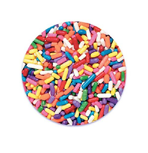 Oasis Supply Jimmies/Sprinkles, 7-Ounce, Rainbow (Oasis Supply Sprinkles compare prices)