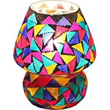 Brahmz Multicoloured Glass Table Mosaic Handcrafted Lamp-33