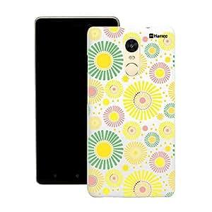 Customizable Hamee Original Designer Cover Thin Fit Crystal Clear Plastic Hard Back Case for Motorola / Moto G Plus 4th Gen / Moto G4 Plus / Moto G 4 + (Floral Bloom / Yellow)