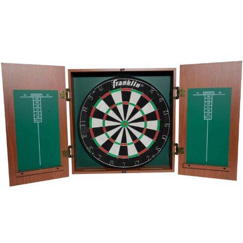 Franklin Sports Bristle Dartboard With Cabinet