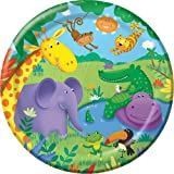 8x Jungle/ Wild Animals/ ZOO Party Paper Plates 9'' (23cm)