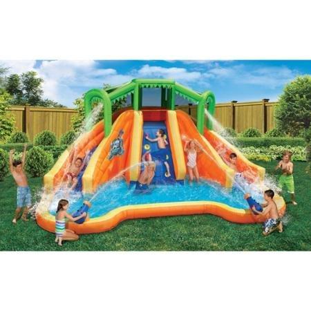 Swimming Pools Waterslides For Kids Banzai Twin Falls Lagoon 16 39 8 L X 11 39 10 W X 8 39 4 H