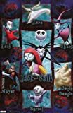 Nightmare Before Christmas Movie Grid Poster Print