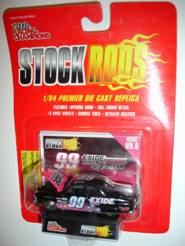 Racing Champions Stock Rods Black Exide #99 1933 Ford Coupe Stock Rod Jeff Burton's - 1