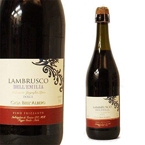 【お酒】 ベッラルベーロ ランブルスコ ロッソ・ドルチェ(赤)IGT 750ml [CASA BELL'ALBERO LAMBRUSCO DELL'EMILIA DOLCE]