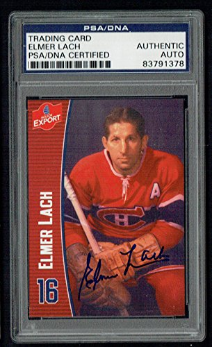 elmer-lach-signed-autograph-auto-molson-export-hockey-trading-card-psa-slabbed