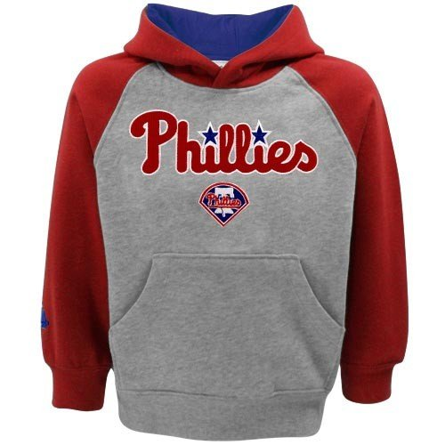 MLB Majestic Philadelphia Phillies Toddler Ash Color Block Hoodie (4T) at Amazon.com
