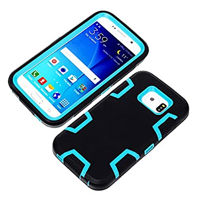 S6 Case, Galaxy S6 Case, S6 Back Case GoodPro™ Powerful Protection [3-in-1 Silicone & Plastic Design] (Black), Hybrid Hard Soft Durable Bumper Case Armor Case Back Cover Case for Samsung Galaxy S6, Included (Screen Protector, Stylus and Cleaning Cloth), S