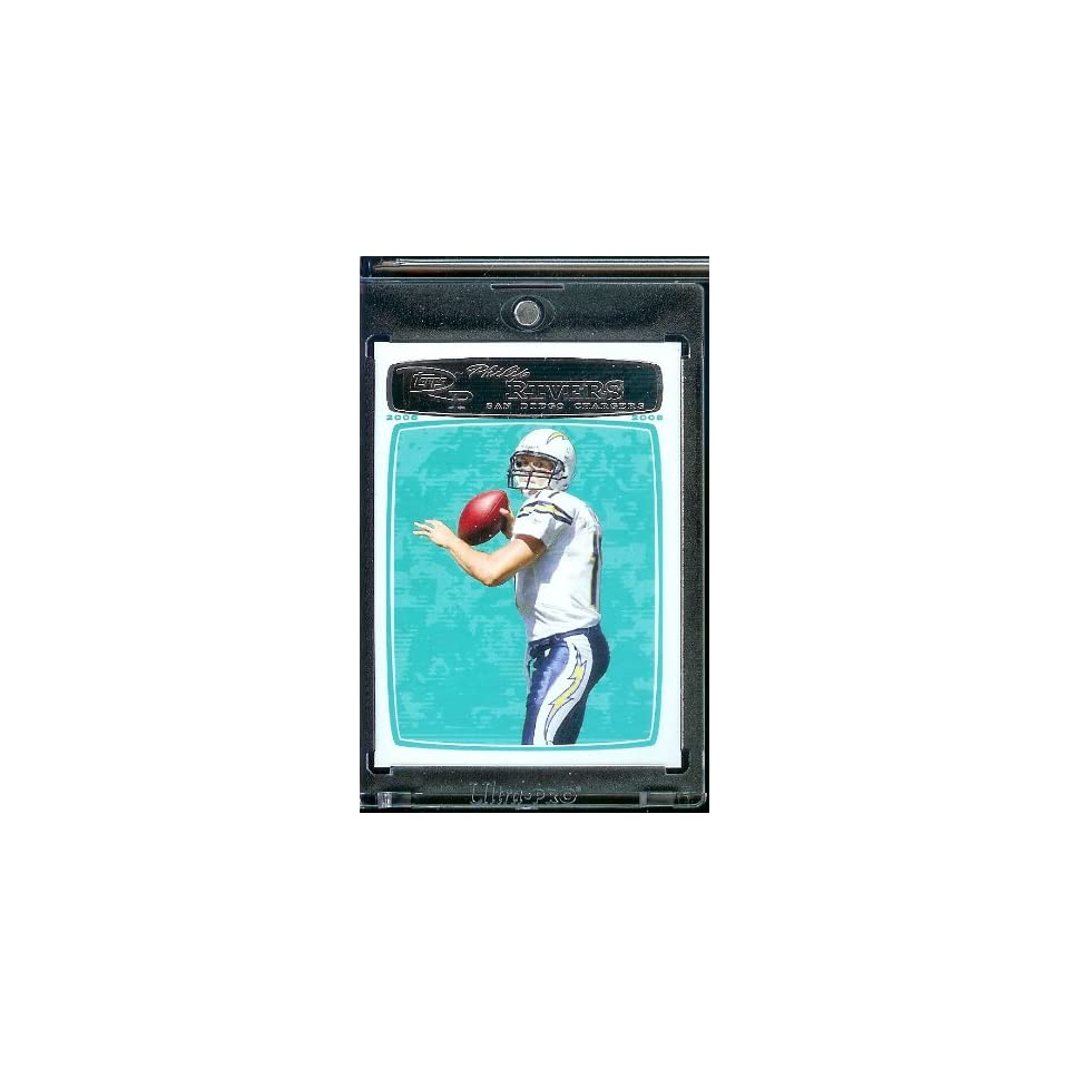 2008 Topps Rookie Progression # 113 Philip Rivers   San Diego Chargers   NFL Football Trading Cards