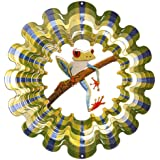 Iron Stop D157-6 Frog Wind Spinner, 6.5-Inch