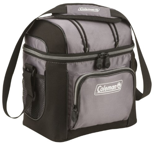 Coleman 9-Can Soft Cooler With Hard Liner, Gray front-258233