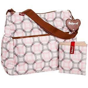 Babymel Diaper Bag, Big Slouchy Retro Links Pink by Babymel